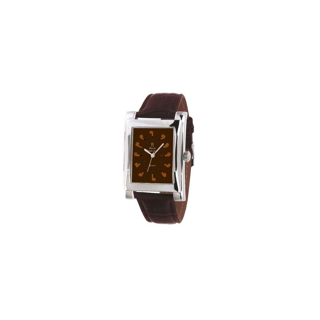 Quartz Clock brown with brown strap