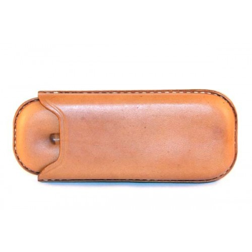 Leather sewn by hand cigar case for 2 robusto