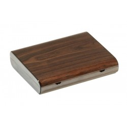 Travel humidor in walnut high polished - cedar