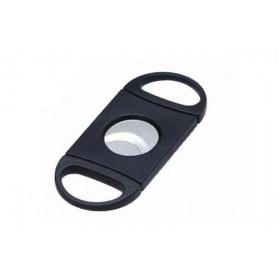 Black plexiglas 2 blades cigar cutter