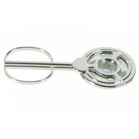 Cortacigarros de mesa en plata con 3 palas