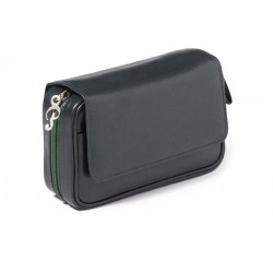 Trousse per 3 pipe Peterson Avoca nappa blu con interno verde