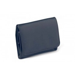 "Borsa per tabacco ""Box"" Peterson ""Avoca"" in nappa blu con interno verde"