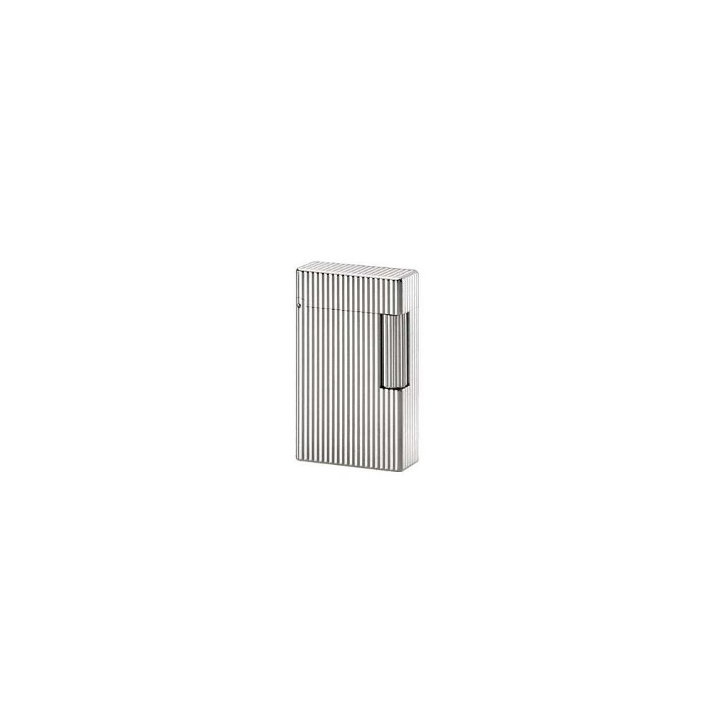 Mechero S.T. Dupont Linea 1 en plata, líneas verticales