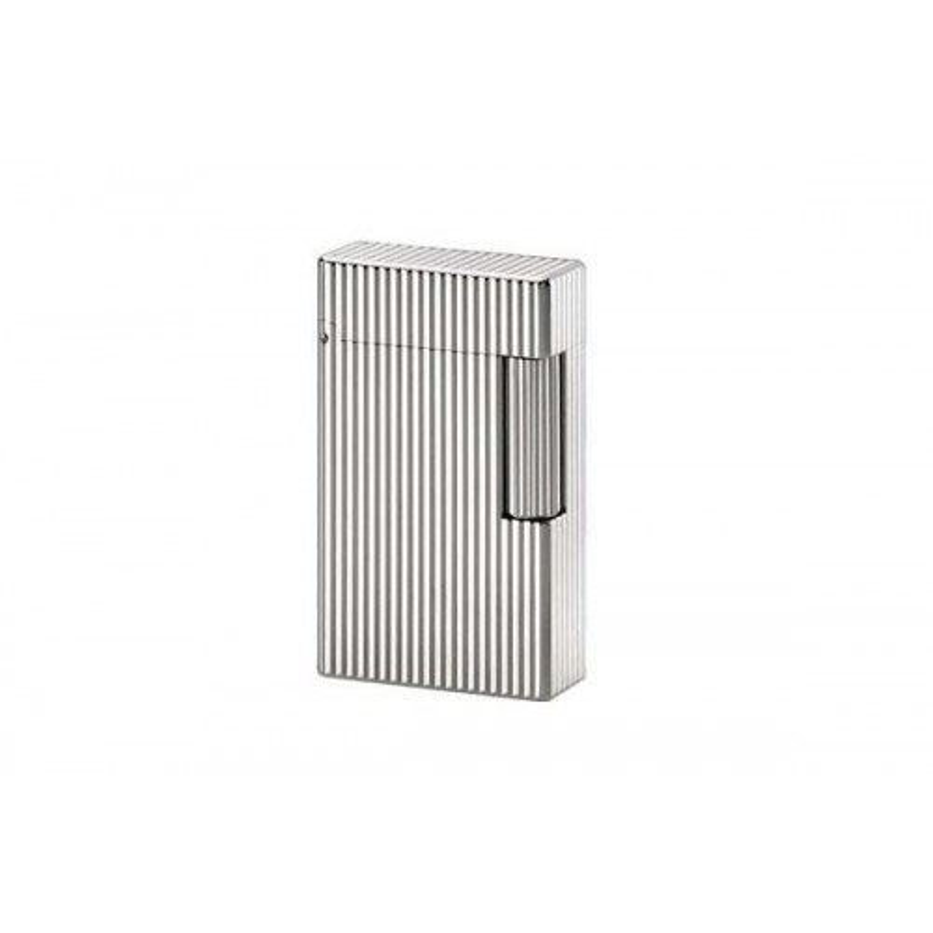 S.T. Dupont Ligne 1 Large Size lighter, vertical lines pattern silver finishes