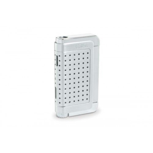 Colibri Jetflame Lighter Abyss - satin and polished chrome finish