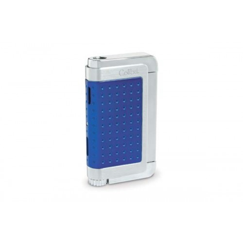 Colibri Jetflame Lighter Abyss - metallic blue and polished chrome finish