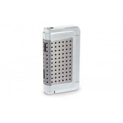 Colibri Jetflame Lighter Abyss - light gunmetal and polished chrome finish