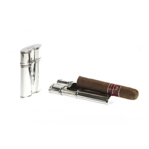 Pocket cigar ashtray in metal