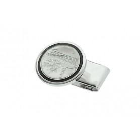 Pinces à billets en silver plate - 100 Lire Minerva