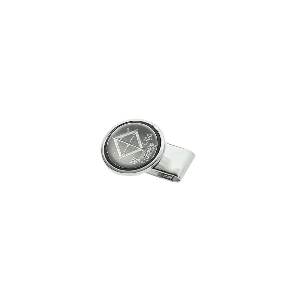 Pinces à billets en silver plate - 100 Lire Marconi