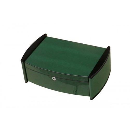"Humidor ""Catamaran"" in green lizard polished digital higro"