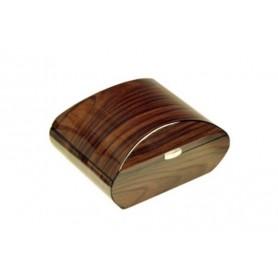 Caves ovale en bois de noix avec hygromètre digital
