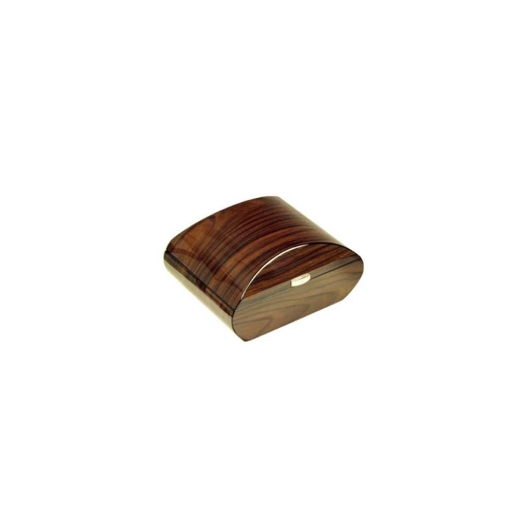 Oval humidor in walnut polished with digital higro