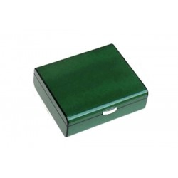 Humidor in green Lizard polished for 25 cigars