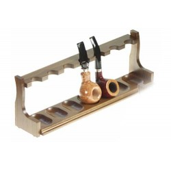 "Walnut pipe stand ""Space"" for 7 pipes"