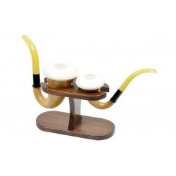 Walnut 2 Calabash pipe stand