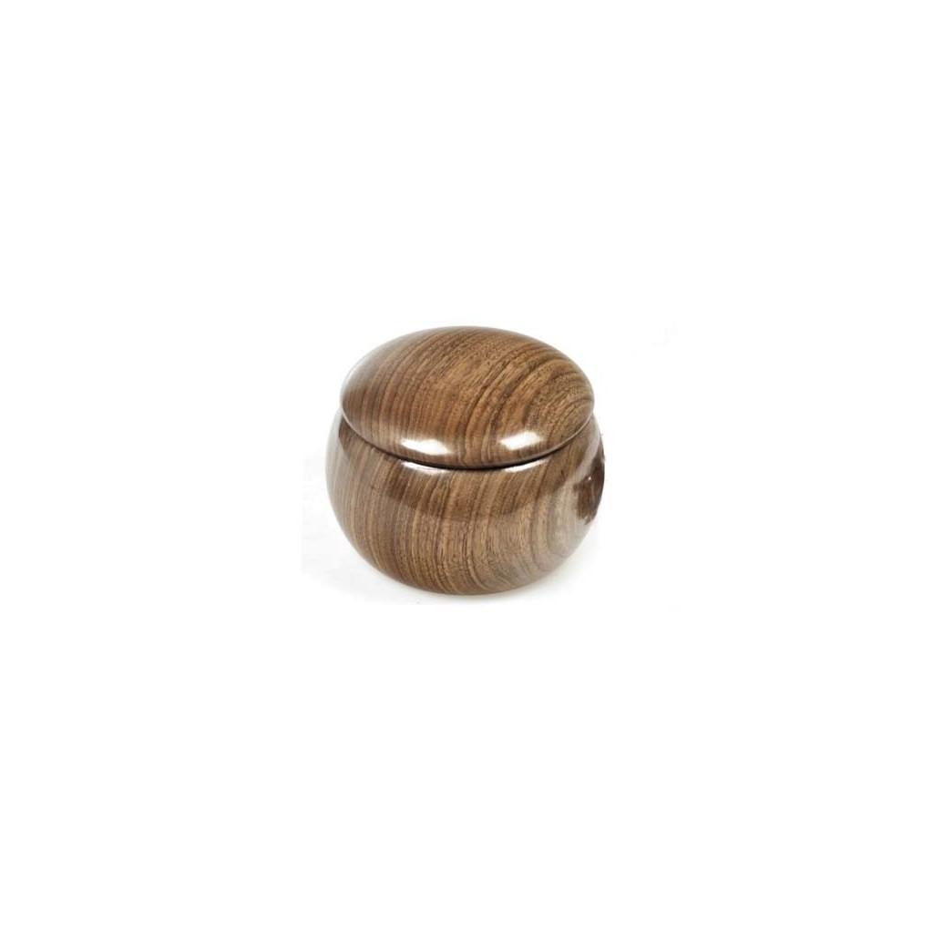 """RO-EL """"Pignatta"""" walnut tobacco jar"""