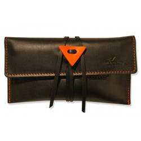 Leather tobacco pouch Mava - Black Mamba