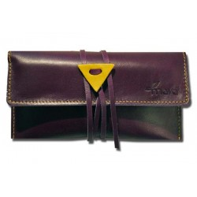 Leather tobacco pouch Mava - Purple Haze