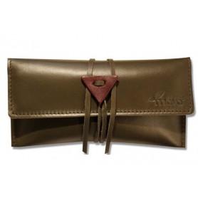 Leather tobacco pouch Mava - Green Jeko