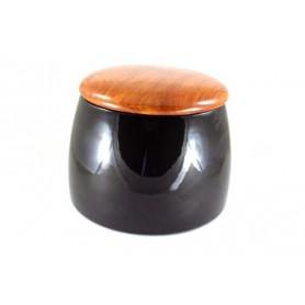 Jarros porta tabaco Arcadia en cerámica y palisandro