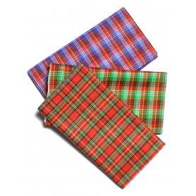 Portatabacco in stoffa scozzese