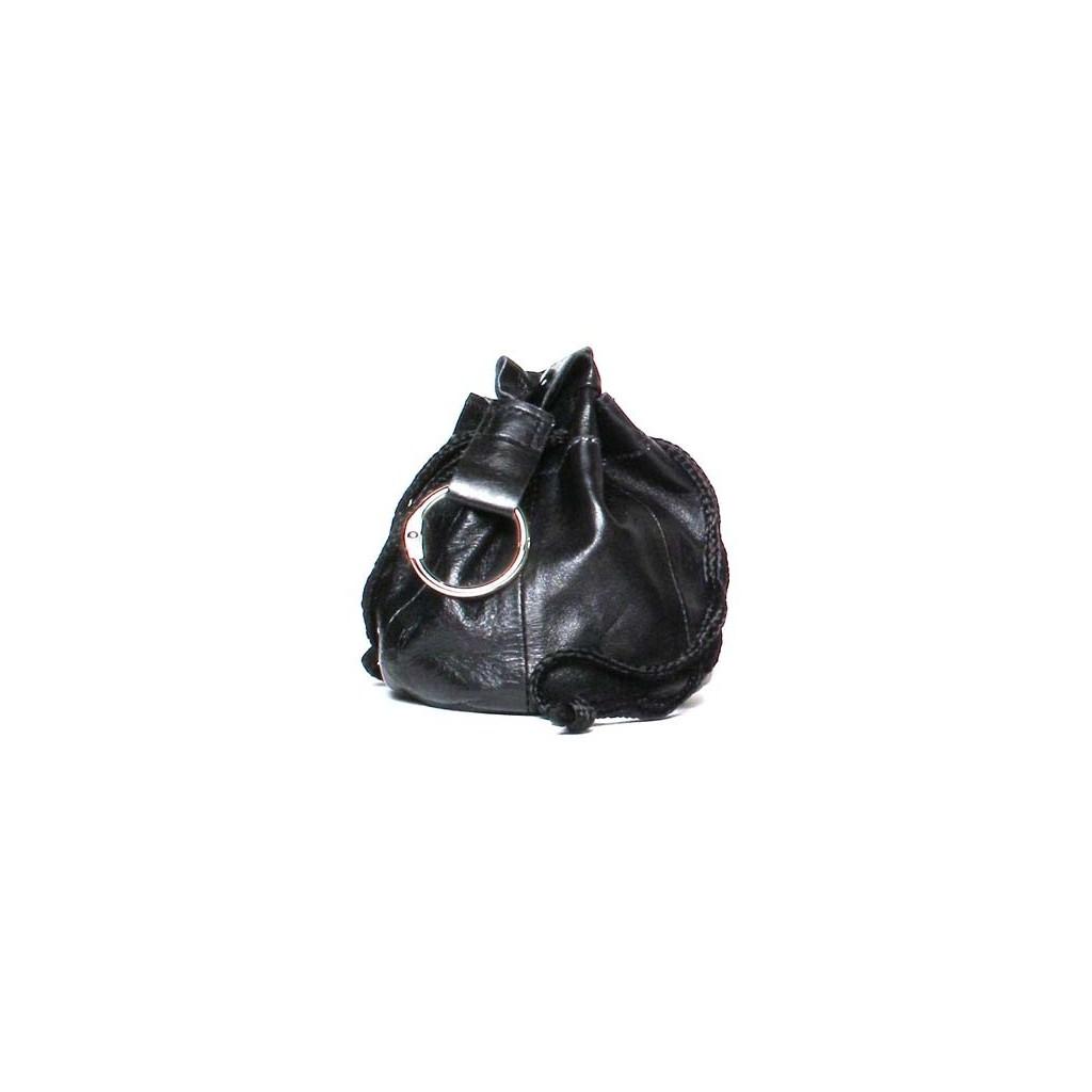 Bolsa en nappa negra para 100gr de tabaco