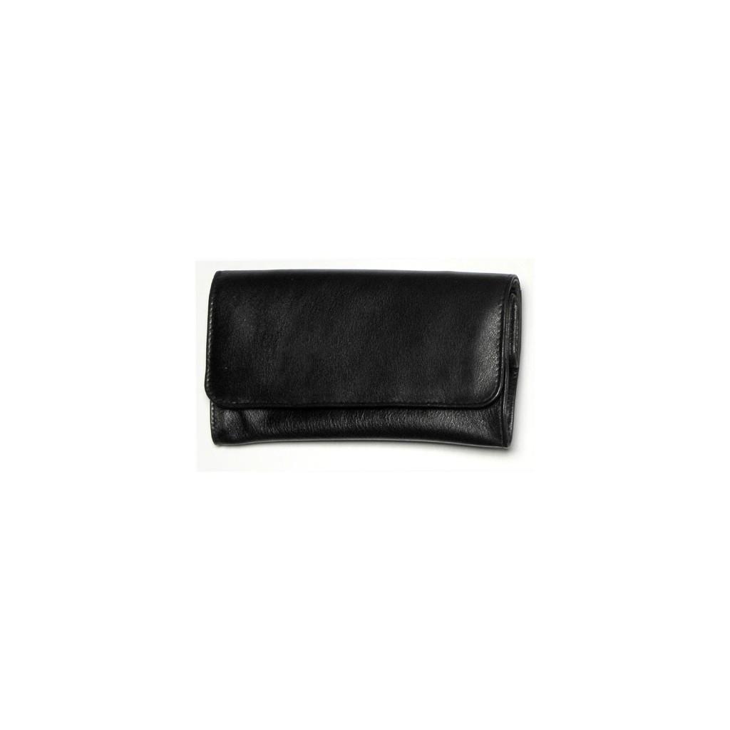Bolsa en piel negra para 100gr de tabaco