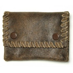 antiqued leathers tobacco pouch