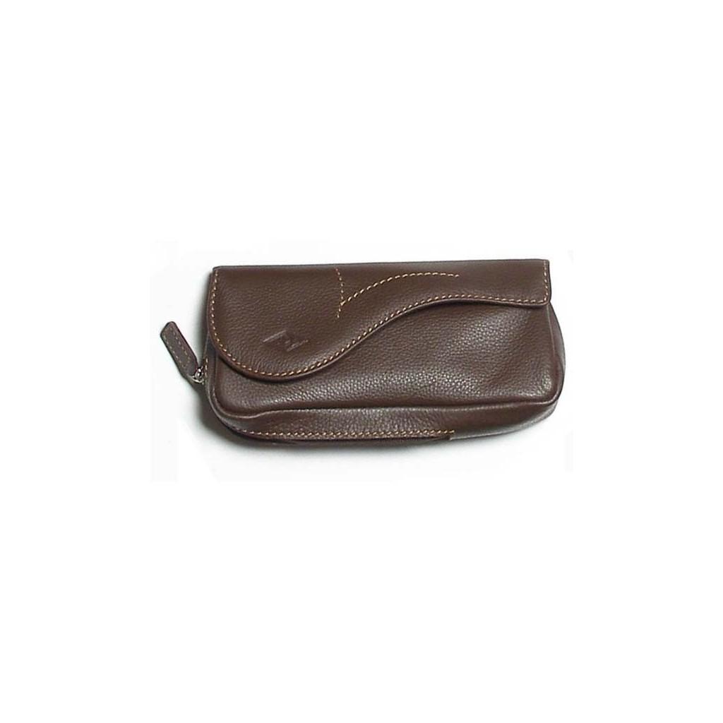 Bolsa MPB en piel de bufalo para pipas, tabaco y accessorios - marron