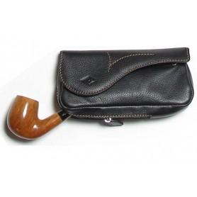 Sac MPB pour pipe et tabac en cuir - Noir