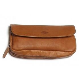 Bolsa MPB en piel de bufalo para pipas, tabaco y accessorios - marron claro