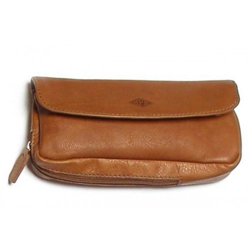 MPB Ox leather pouch for pipe, tobacco and accessories - Havana