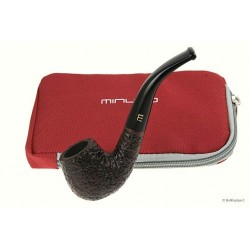 Minuto by Savinelli - bent brown rusticated