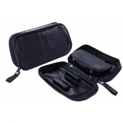 Imitation Leather pouch for 2 pipes, tobacco and accessories