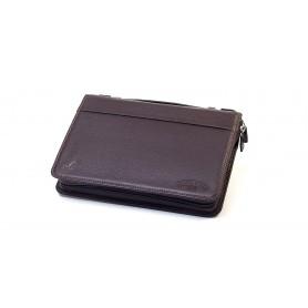 Bolsa en piel Savinelli para 3/4 pipas y accessorios - Marron