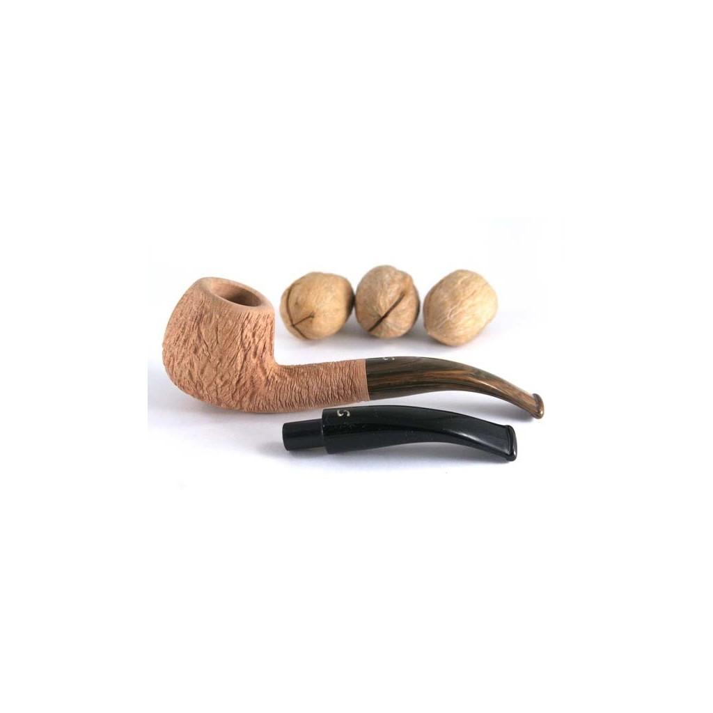 Savinelli Noce 636 Ks rusticata naturale con doppio bocchino - filtro 9mm