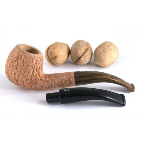 Savinelli Noce 636 Ks tan-rustic with 2 mouthpieces - 9mm filter