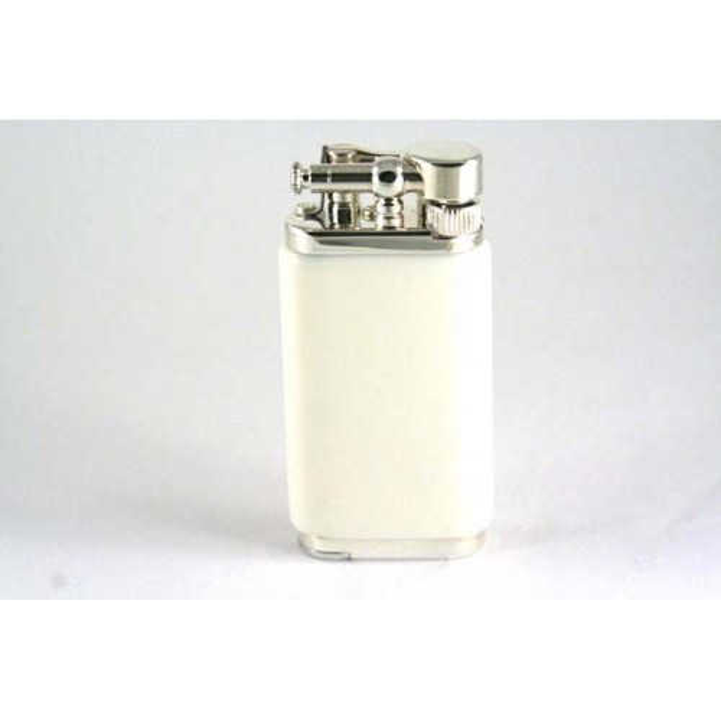 Savinelli Old Boy pipe lighter - white acrylic