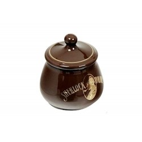 S.Holmes Ceramic Tobacco jar - Brown