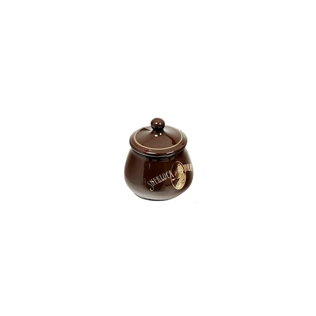 Vaso porta tabacco S.Holmes bombato piccolo in ceramica - Marrone