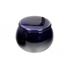 """Vaso porta tabacco """"Palla"""" in ceramica blu"""