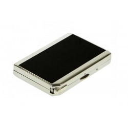 Double cigarette case with lighter black laque