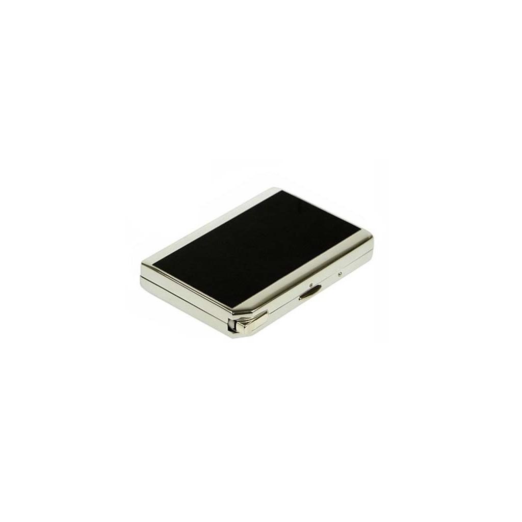 Double cigarette case with lighter black laque