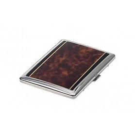 Étui cigarette silverplate - laque tortue