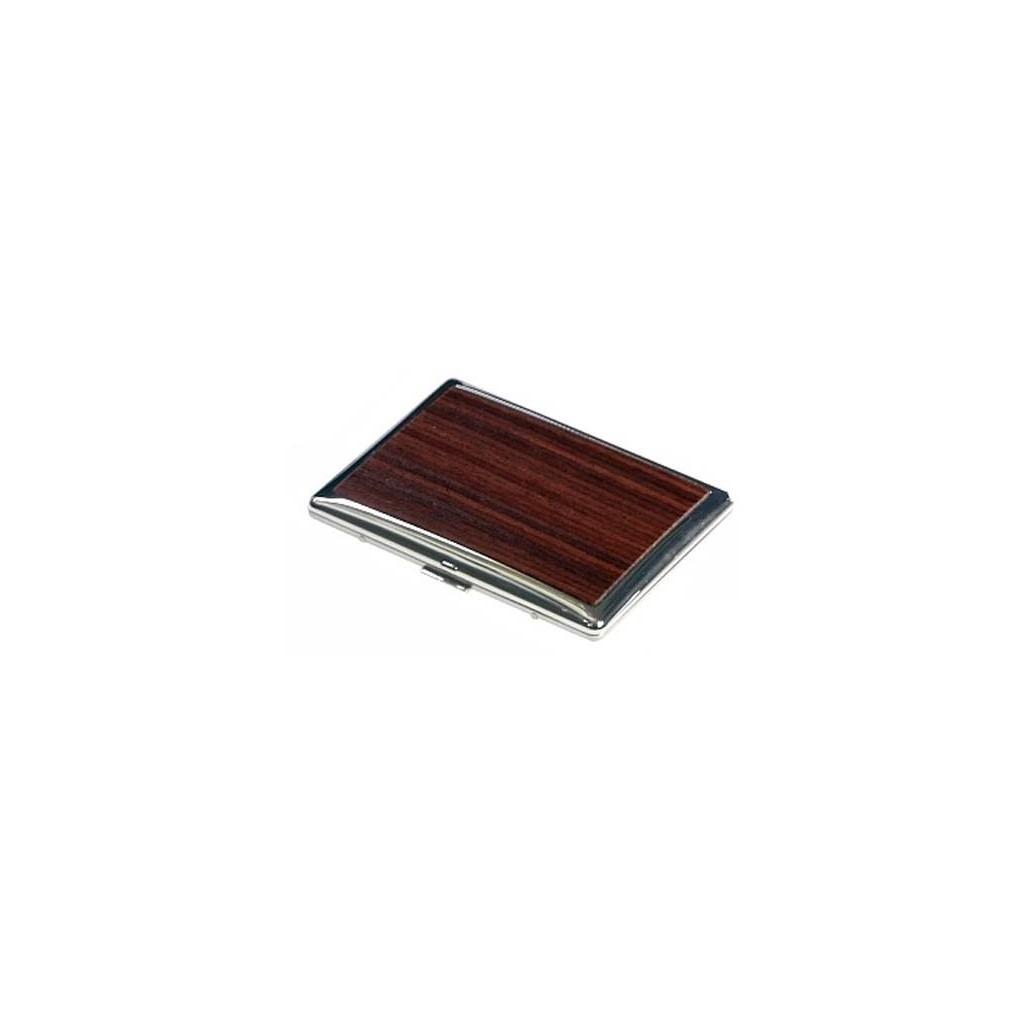 Portasigarette placcato argento rivestito in legno