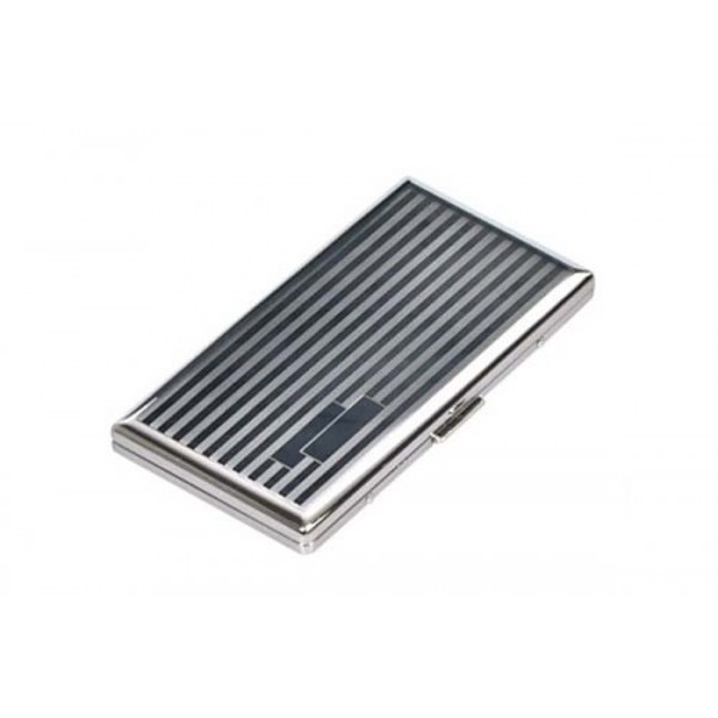Étui Lady cigarette silverplate - lines & bands