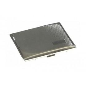 Cigarette case silver plate - barley