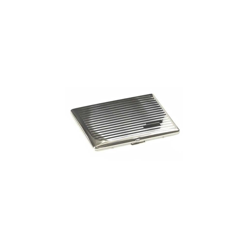 Étui cigarette silverplate - lines & bands